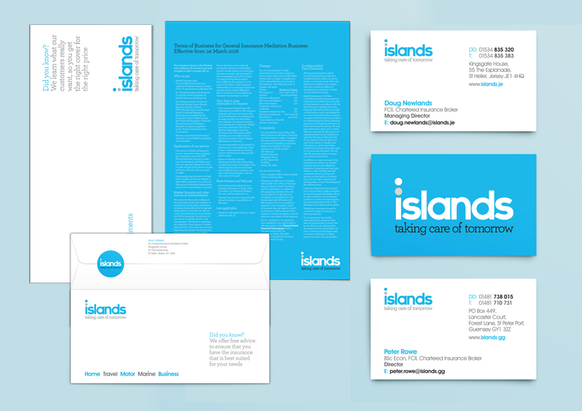 Logo design and re-branding of Islands insurance