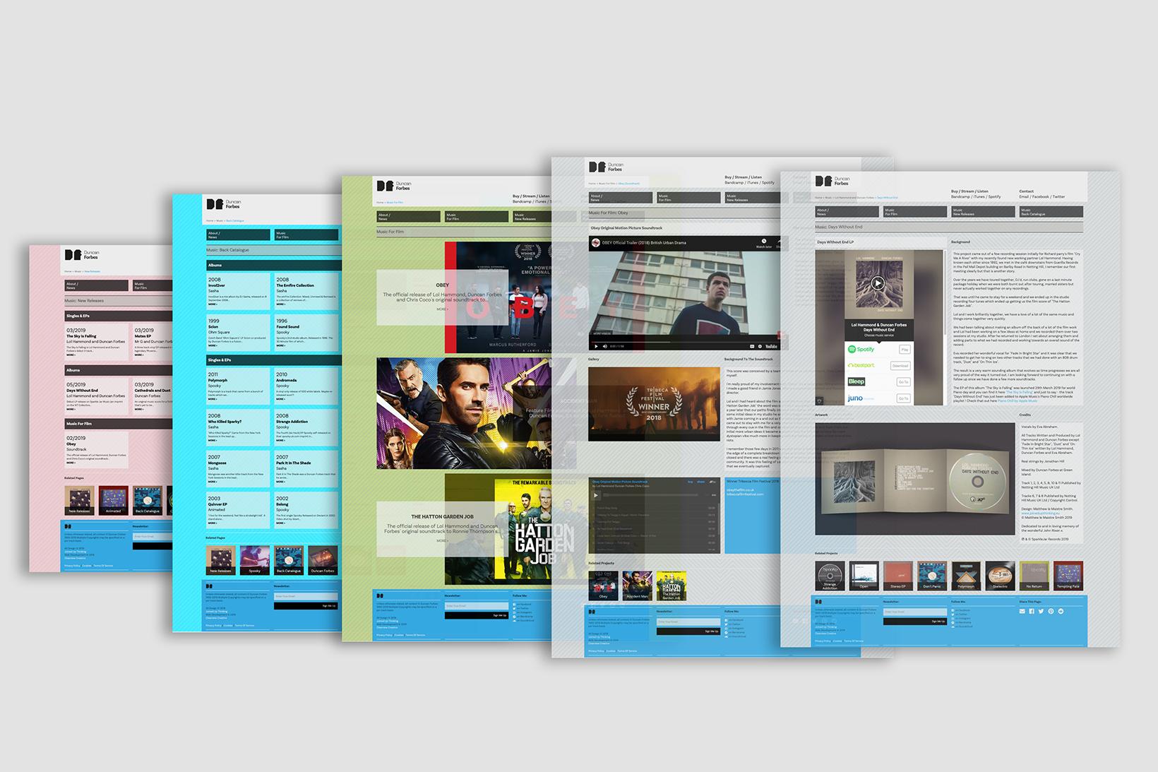 Website design for Duncan Forbes